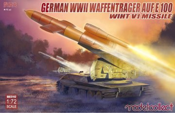 German WWII E-100 panzer weapon carrier with V1 Missile launcher · MOD UA72112 ·  Modelcollect · 1:72