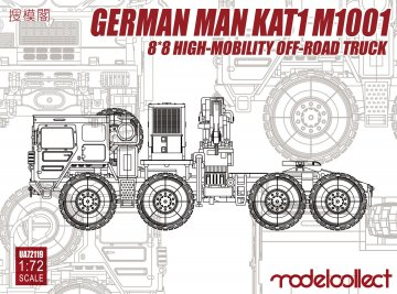 German KAT1M1001 8*8 HIGH-Mobility off- road truck · MOD UA72119 ·  Modelcollect · 1:72