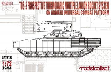 TOS-2 Prospective Thermobaric MuLtlpllau Rocket System on Armata Universal Combat · MOD UA72127 ·  Modelcollect · 1:72