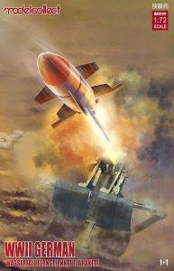 German WWII Wassefall Ferngelenkte Flakrakete 1+1 pack · MOD UA72141 ·  Modelcollect · 1:72