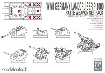 WWII Germany Landkreuzer P1000 Ratte - Weapon set pack · MOD UA72150 ·  Modelcollect · 1:72