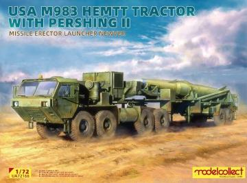 USA M983 Hemtt Tractor With Pershing II Missile Erector Launcher new Ver. · MOD UA72166 ·  Modelcollect · 1:72
