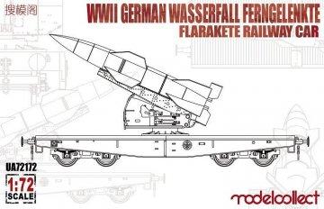 WWII German Wasserfall Ferngelenkte Flarakete Railway Car · MOD UA72172 ·  Modelcollect · 1:72