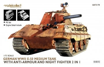 Germany WWII E-50 Medium Tank with anti-armour and night fighter 2 in 1 · MOD UA72178 ·  Modelcollect · 1:72