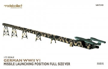 German WWII V1 Missile launching position full size version · MOD UA72183 ·  Modelcollect · 1:72