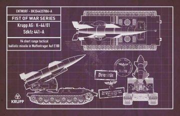 Fist of War Series - German WWII V4 shot range tactical ballistic missile in Waffenträger auf E100 · MOD UA72190 ·  Modelcollect · 1:72