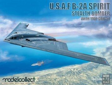 USAF B-2A Spirit Stealth Bomber with Mop GBU-57 · MOD UA72206 ·  Modelcollect · 1:72