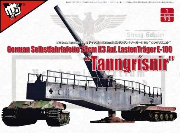 Fist of War - WWII German 28CM Kanone 3 Auf Lastenträger E-100 · MOD UA72309 ·  Modelcollect · 1:72