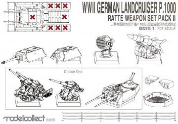 WWII German Landkreuzer P1000 - Weapon set - Pack II · MOD UA72310 ·  Modelcollect · 1:72