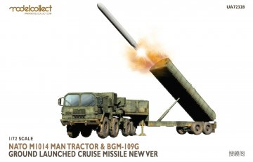 Nato M1014 MAN Tractor&BGM-109G Ground Launched Cruise Missile new Ver · MOD UA72328 ·  Modelcollect · 1:72