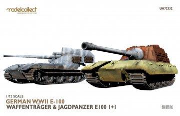 German WWII E-100 Waffentrager & Jagdpanzer E-100 1+1 · MOD UA72332 ·  Modelcollect · 1:72