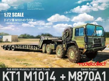 German MAN KAT1M1014 8*8 HIGH-Mobility off-road truck with M870A1 semi-trailer · MOD UA72341 ·  Modelcollect · 1:72