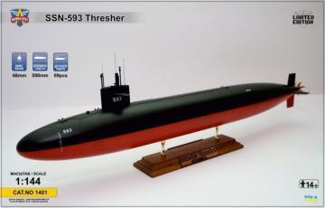 USS Thresher (SSN-593) submarine · MSV 1401 ·  Modelsvit · 1:144