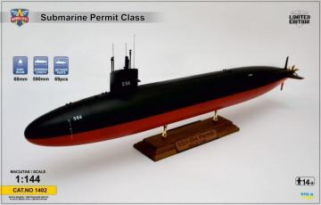 USS Permit (SSN-594) submarine · MSV 1402 ·  Modelsvit · 1:144