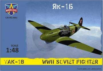 Yak-1B WWII Soviet fighter · MSV 4801 ·  Modelsvit · 1:48