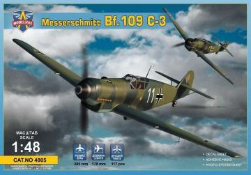 Messerschmitt Bf 109 C-3 · MSV 4805 ·  Modelsvit · 1:48