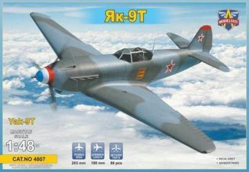 Yak-9 T Soviet WWII fighter · MSV 4807 ·  Modelsvit · 1:48