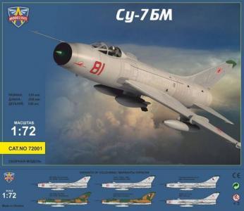 Sukhoi Su-7BM Soviet fighter-bomber · MSV 72001 ·  Modelsvit · 1:72