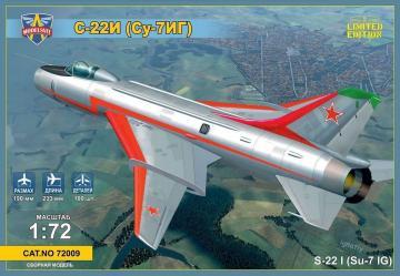 Sukhoi Su-22I (Su-7IG) Su-7BM with wings · MSV 72009 ·  Modelsvit · 1:72