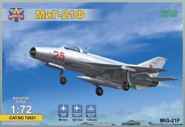 MIG-21F(Izdeliye72)Soviet supersonic fighter · MSV 72021 ·  Modelsvit · 1:72