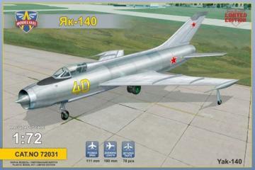 Ykovlev Yak-140 Soviet prototype fighter · MSV 72031 ·  Modelsvit · 1:72