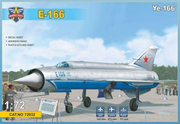 Ye-166 Heavy experimental interceptor · MSV 72032 ·  Modelsvit · 1:72