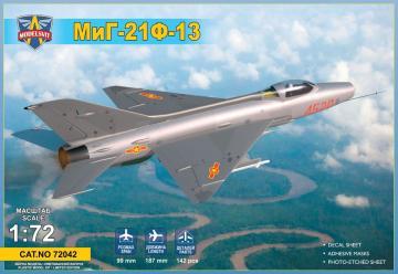 MiG-21F-13 supersonic jet fighter · MSV 72042 ·  Modelsvit · 1:72