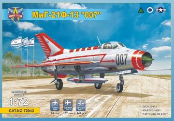 MiG-21F-13 007 (USAF, Iraq, 4 x Israeli A.F.) · MSV 72043 ·  Modelsvit · 1:72