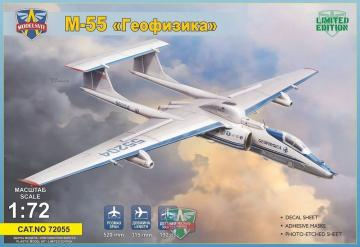 M-55 Geophysica research aircraft - Limited Edtion · MSV 72055 ·  Modelsvit · 1:72