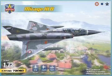 Mirage IIIB operational trainer ( 5 camos) · MSV 72060 ·  Modelsvit · 1:72