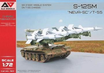 S-125M Neva-SC/T-55 SA-3 GOA Missile System on T-55 chassis · MSV 7217 ·  Modelsvit · 1:72