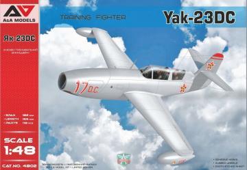 Yakovlev Yak-23 DC Training Fighter Fighter · MSV AAM4802 ·  Modelsvit · 1:48