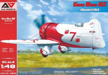 Gee Bee R2 ( 1933 version) racing aircraft · MSV AAM4805 ·  Modelsvit · 1:48