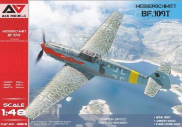 Messerschmitt Bf-109 T1/T2 - Carrier-based fighter-bomber · MSV AAM4806 ·  Modelsvit · 1:48