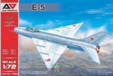Ye-5 Pre-series light interceptor · MSV AAM7222 ·  Modelsvit · 1:72