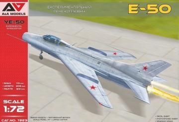 Ye-50 experim.interceptor with rocket engine · MSV AAM7223 ·  Modelsvit · 1:72