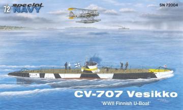 CV 707 Vesikko Finnish WWII Submarine · MPM 72004 ·  MPM · 1:72