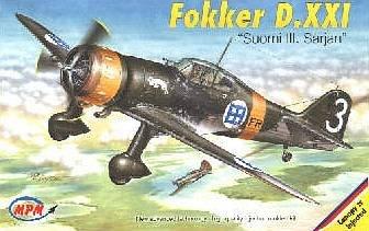 Fokker D. XXI Finnland · MPM 72520 ·  MPM · 1:72