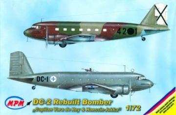 Douglas DC-2 Finland & Espana Bomber · MPM 72527 ·  MPM · 1:72