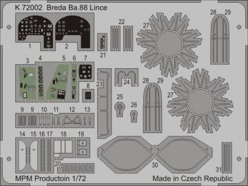 Breda Ba.88 Lince for MPM 72538 · MPM K72002 ·  MPM · 1:72
