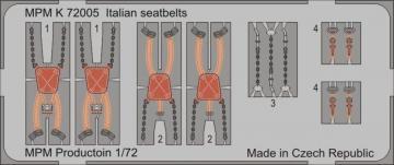 Italian seatbelts · MPM K72005 ·  MPM · 1:72