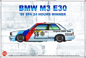 BMW M3 E30 ´88 Spa 24 Hours Winner · NB PN24017 ·  Nunu-Beemax · 1:24