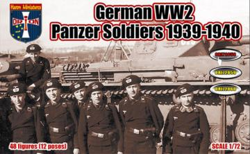 WWII German Panzer Soldiers, 1939-1940 · ORI 72058 ·  Orion · 1:72