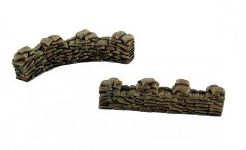 Sandbags 28 mm bemalt · PGH 5208 ·  Pegasus Hobbies · 1:72