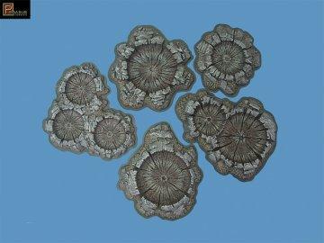 Craters Painted 15 bags, 28mm · PGH 5215 ·  Pegasus Hobbies · 1:72