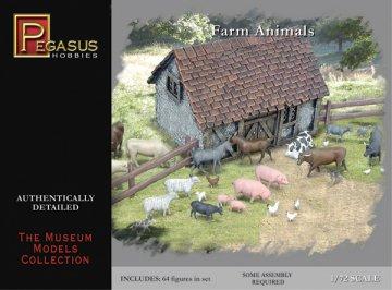 64 verschiedene Farmtiere · PGH 7052 ·  Pegasus Hobbies · 1:72