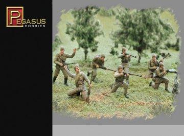 WWII: Russische Infanterie in Sommeruniform · PGH 7268 ·  Pegasus Hobbies · 1:72