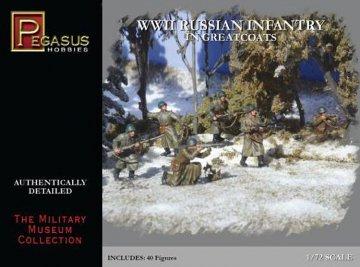 WWII: Russische Infanterie in grünen Mänteln · PGH 7271 ·  Pegasus Hobbies · 1:72