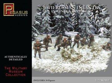 WWII: Russische Infanterie in Winterkleidung · PGH 7272 ·  Pegasus Hobbies · 1:72