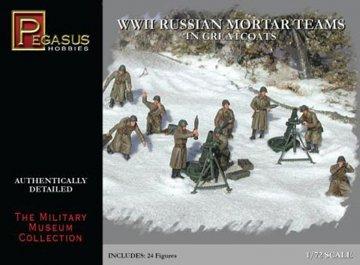 WWII: Russische Mörser-Crew · PGH 7273 ·  Pegasus Hobbies · 1:72